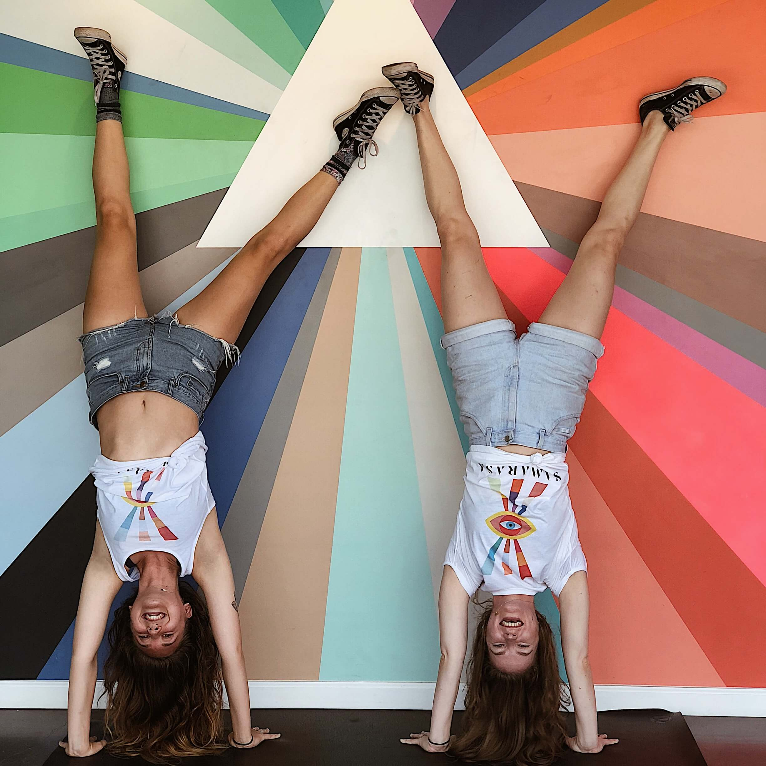 Lily & Lucy Handstand